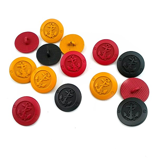 17 mm - 28 L  Anchor Logo Shank Button E 2044
