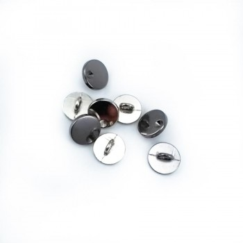 12 mm - 19 size Simple Stone Metal Footed Button E 2077
