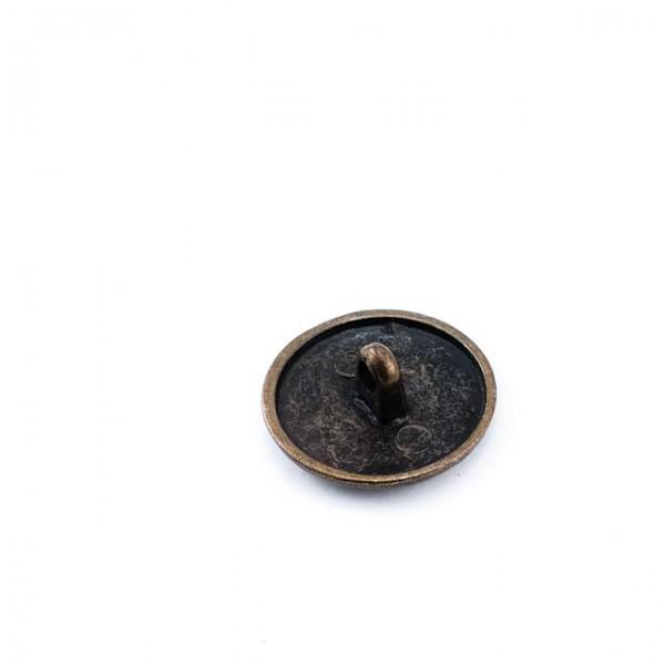 20 mm - 32 L Patterned Jacket Shank Metal Button E 210
