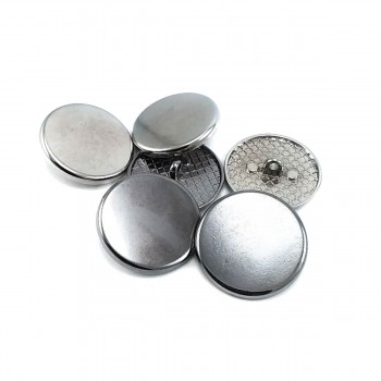 25 mm - 40L Round simple metal foot button E 2133