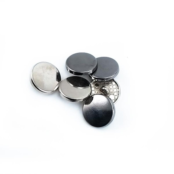 Round simple metal snak button 17 mm - 27 size E 2135