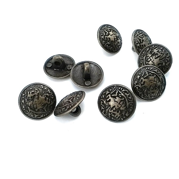Patterned Footed Button 15 mm - 24 size E 266
