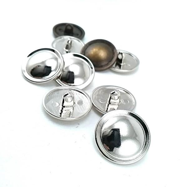20 mm - 32 size Plain metal jacket button E 306