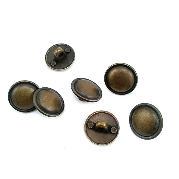 15 mm - 24 L  Curved Metal Shank Button E 307