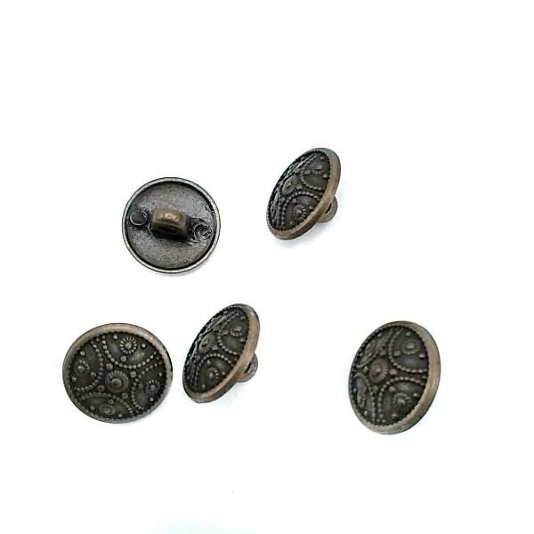 15 mm - 24 L Point Motif Patterned Metal Button E 314