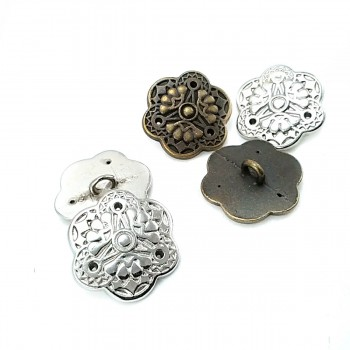 21 mm 35 Size Stylish Design Footed Button Metal E 383