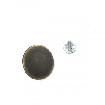 20 mm - 32 L Flat Coin Shape Jeans Button E 396