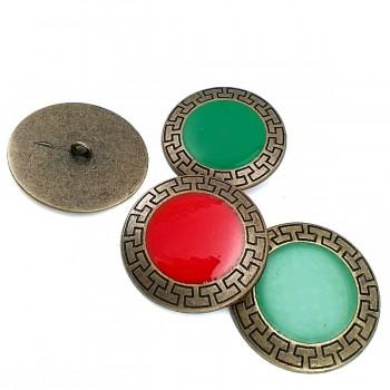 40 mm - 64 size Enameled metal coat button E 430