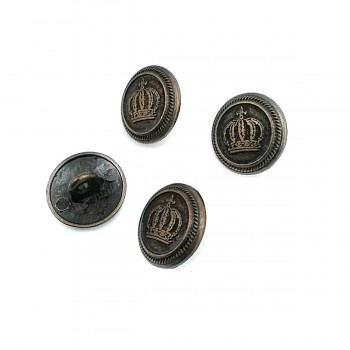 15 mm - 24 size Crowned Metal Footed Button E 501