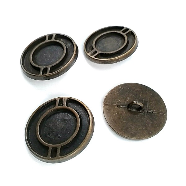 25 mm 39 Size Aesthetically Designed Button with Foot Metal E 515