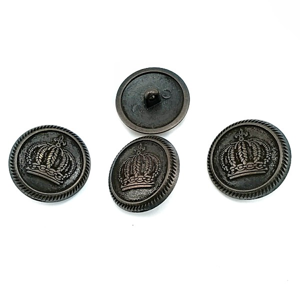 23 mm - 36 size Crowned Metal Footed Button E 559