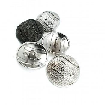 25 mm 40L  Stylish Design Shank Button Metal E 584