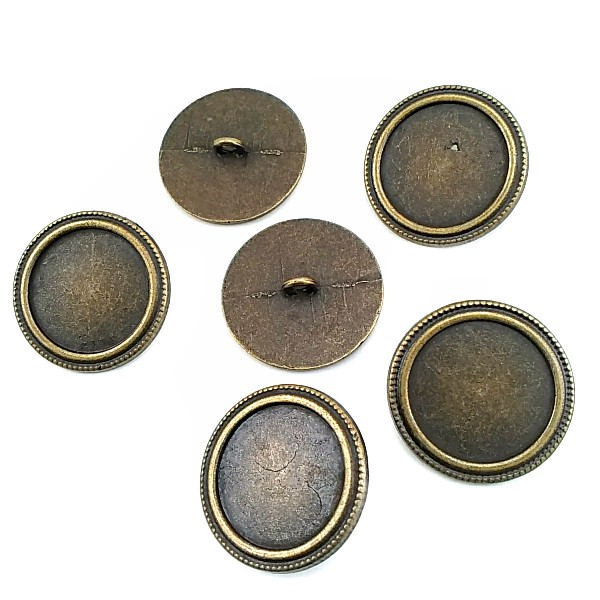 Dotted Bottom Button with Plain Edges 28mm - 46 size E 596