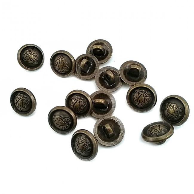 12 mm  Ayaklı düğme metal E 605