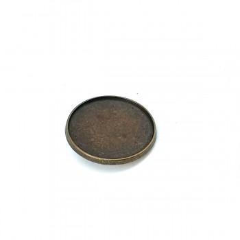 36.3mm Plain Enamel Footed Button E 673