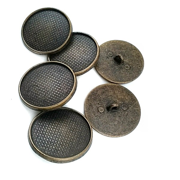 Enamel and Patterned Metal Shank Button 31 mm - 48 L E 710