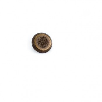 14 mm - 23 size Round Stamped metal foot button E 752