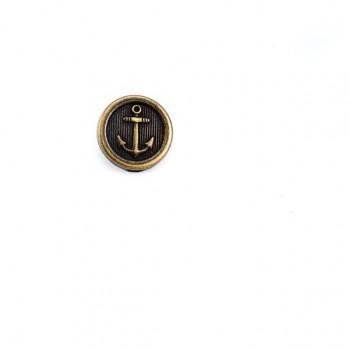 Anchor Printed Metal button 15 mm - 24 size E 911
