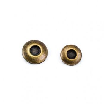Metal Classic Foot Button 13 mm 22 lignes 21 E 951