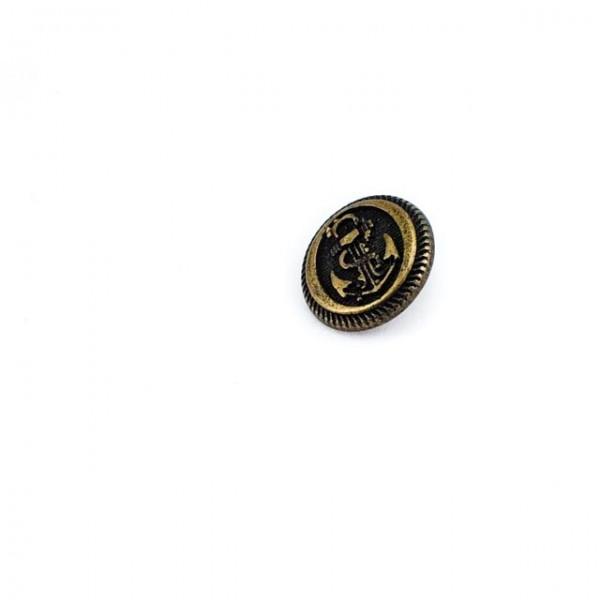 Anchor Pattern Blazer Button with Leg 16 mm - 26 size E 955