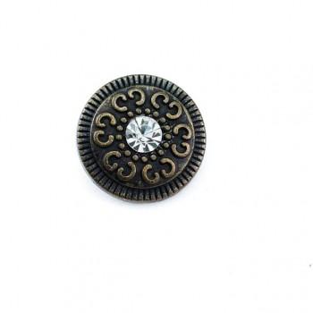 Patterned stone bottom button 20 mm - 32 size E 977