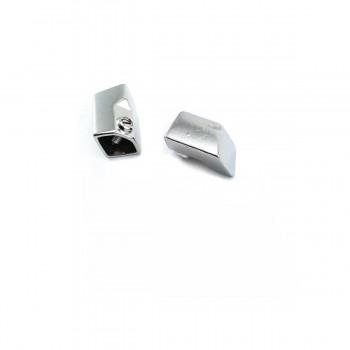 Metal Screw Lacing end 17.4 x 13.6 mm BU 01