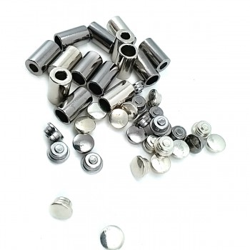 12 mm Covered metal connector diameter 7 mm E 1999 W