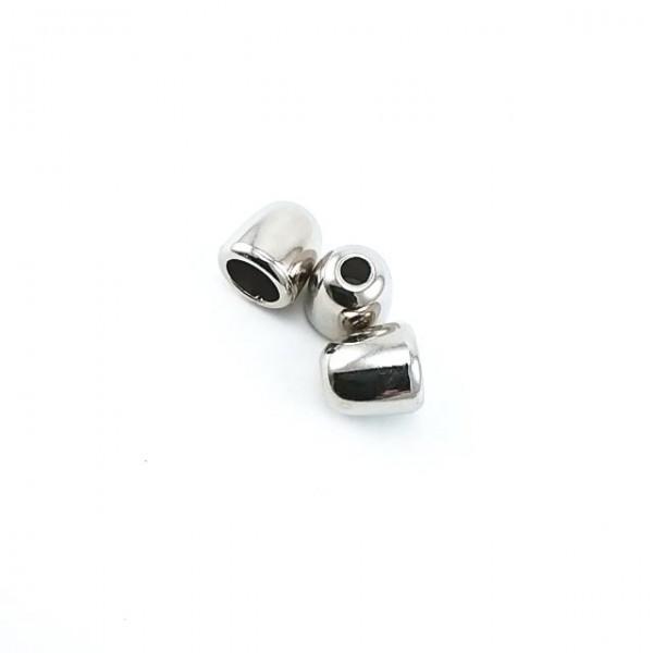 Cord end metal diameter conical shape 7 mm length 10 mm E 213