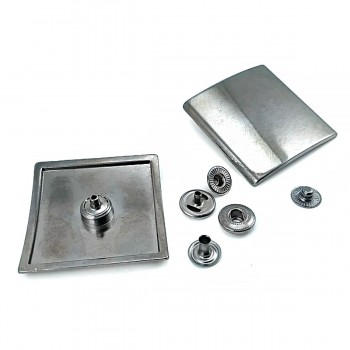 44mm Square Metal Snap Button B 166