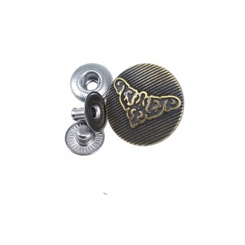 22 mm - 36 size Metal Crown design snap button E 1140
