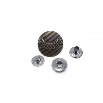 Metal point design snap button 21 mm - 34 size E 1169