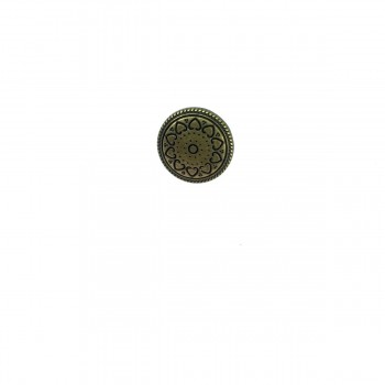 12 mm - 18 size Heart patterned metal snap button E 1180