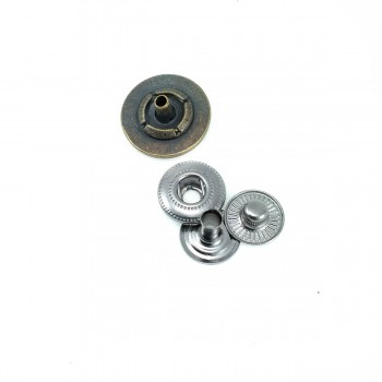 17 mm - 27 L Stylish Patterned Snap Button in E 1457