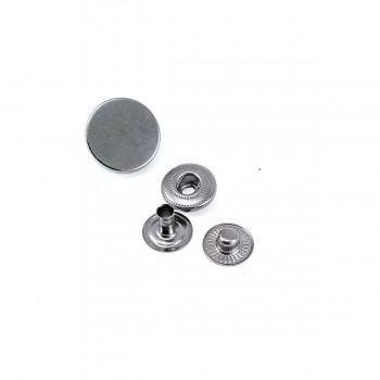 15 mm / 24 size Plain Metal Snap Button E 1477