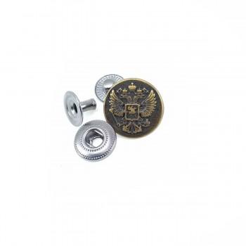 17 mm - 27 L Logo Patterned Snap Button E 1492
