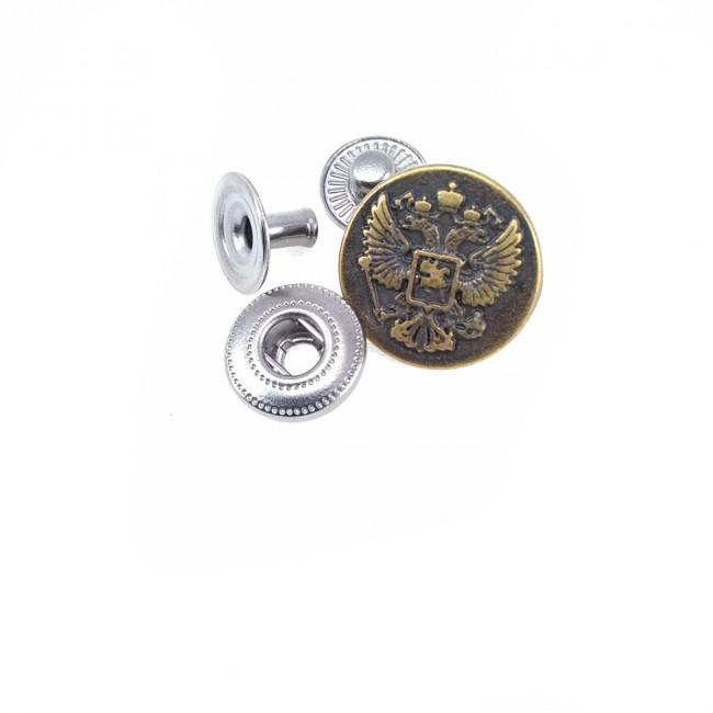 17 mm - 27 boy Logo Desenli Çıt Çıt Düğme E 1492