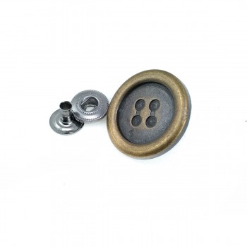 """25 mm - 40 length Perforated Button Design """"Snap Button"""" E 1526"""
