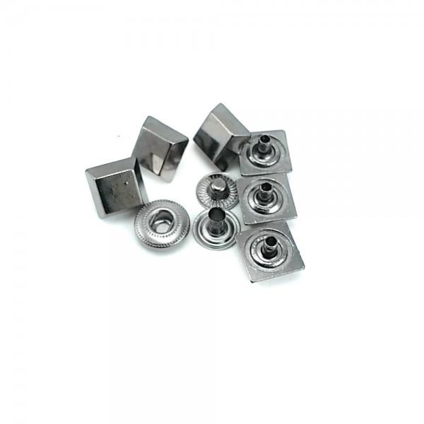 11 x 11 mm square shape metal snap button E 1709