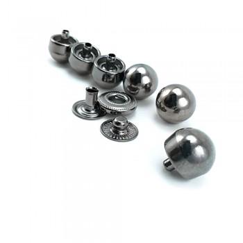 11 mm - 18 size Metal snap ball button E 1739
