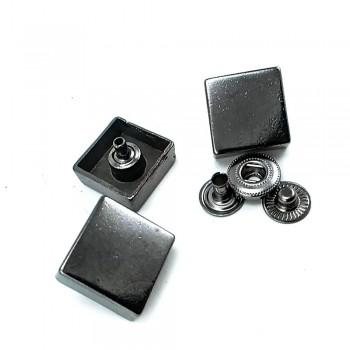 18 x 18 mm Square metal snap button E 1748
