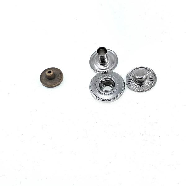 7 mm - 11 L Plain Metal Snap Button E 1838