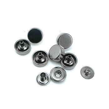 Ball shaped metal snap button 11 mm 20 size E 1857
