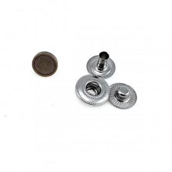 9 mm - 14 L Plain Metal Snap Button E 1877