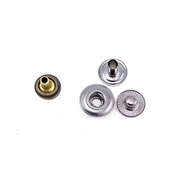 9 mm - 14 boy Sade Metal Çıtçıt düğme E 1877