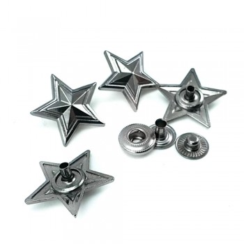 Star Shaped Snap Button 20 mm - 32 size E 1904