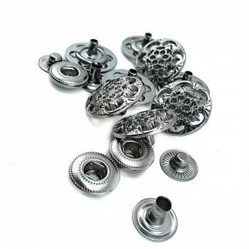 18 mm - 28 lignes Metal snap button design E 203