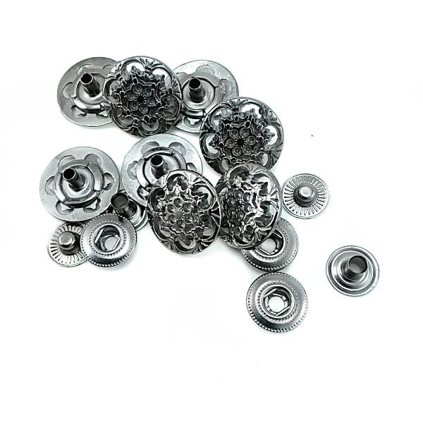 Metal snap button design 18 mm - 28 lignes E 203