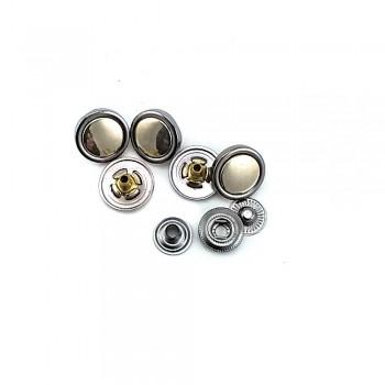 15 mm / 24 size Double Color Metal snap button E 2034