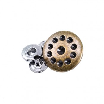 Metal snap button with stone 22 mm 36 size E 292