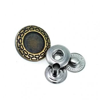 17 mm - 28 size Enamelled metal snap button E 439